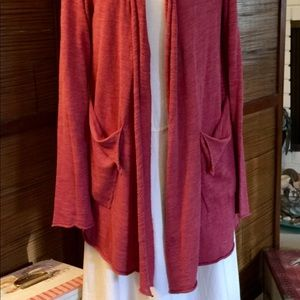 Anthropologie Moth long coral sweater